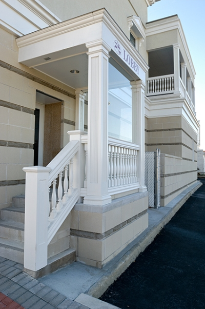 Fiberglass balustrade from fibertech for Fypon balustrade