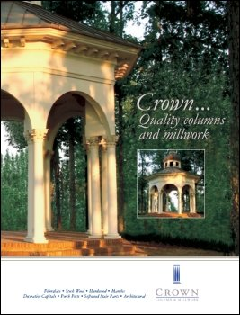 Crown columns and millwork from fibertech for Crown columns